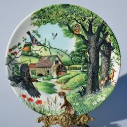 Porcelánový tanier The Mill Stream + certifikát WEDGWOOD 21,5 cm + origin.balenie