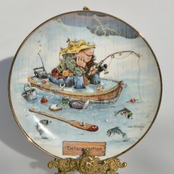 Porcelánový tanier Just Married, Franklin Mint 21 cm, 22 karát zlato + certifikát, orig.obal