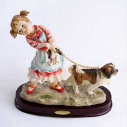 Polyresinová soška Baletky a telefón 14,5 cm