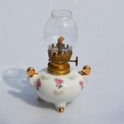 Lampička na olej Kytička ruží 14x6 cm, záruka sa nevzťahuje na funkčnosť