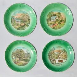 Sada 5 ks porcelánové tanieriky Vtáčiky, Royal Kendal 12,5 cm
