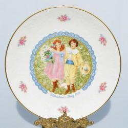 Porcelánový tanier Valentine´s Day 1979 Royal Doulton 21 cm