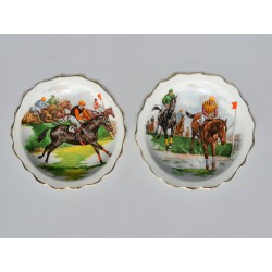 Sada 4 ks starožitné tanieriky Remeslá, Wedgwood 10,5 cm
