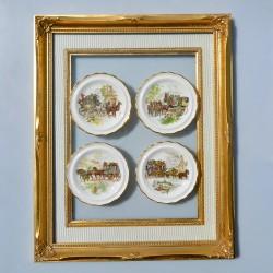 Sada 4 ks porcelánové tanieriky Ročné obdobia, Paul Ann 7,5 cm