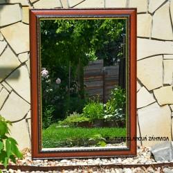 predane Staré drevené zrkadlo zlatej farby - obdĺžik, fazetované, 56 x 41 x 4 cm