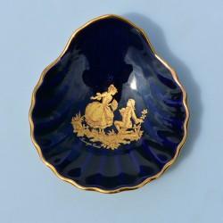 ? cena Sada 2ks porcelánové šperkovničky Limoges, Cobalt Blue, 22 karát zlato, priemer 5 cm a 4,5 cm