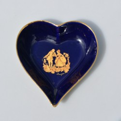 ? cena Porcelánová miska Limoges, Cobalt Blue, 22 karát zlato, 11x10x3 cm
