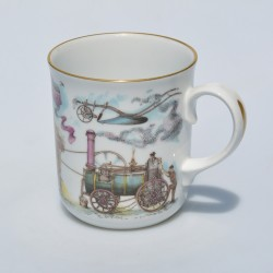 Porcelánový hrnček God Speed the Plough, Royal Worcester England 330 ml