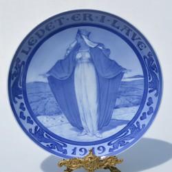 Starožitný tanier z kameniny - ironstone MASON´S 26 cm, na hrane prednej strany taniera malé obitie