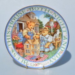 Porcelánový tanier Thankful Teddies, Royal Doulton  20,5 cm
