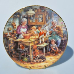 Porcelánový tanier A Surprise For Grandad, 22 karát zlato 20,5 cm