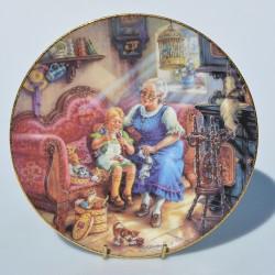 Porcelánový tanier Die kleine Kuchenfee, Weimer Porzellan 19 cm + certifikát + orig.obal