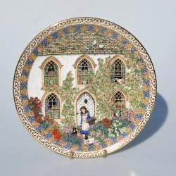 Porcelánový tanier Cheshire Box Frame, Royal Worcester  21 cm