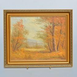 Obraz - olejomaľba Jesenná krajinka 31,5x26x2 cm