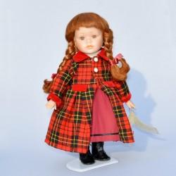 40 cm Porcelánová bábika Ryšulka s okuliarmi, bez stojanu na státie