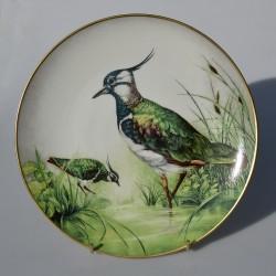 Porcelánový tanier Great Spotted Woodpecker, Limoges 23 cm + certifikát, origin.balenie