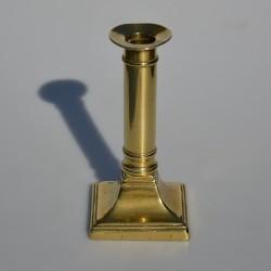 Mosadzný svietnik točený 17x7,5 cm