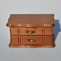 ? kde Drevená skrinka - šperkovnica so zrkadlom 12x20,5x12,5 cm