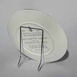 Kovový STRIEBORNÝ stojan No.4 na hlboké taniere max 27 cm a misy 25 cm