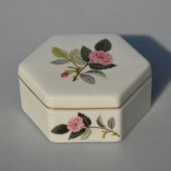 Porcelánová dóza / šperkovnička Hathaway Rose, Wedgwood 7,5 x 8,5 cm
