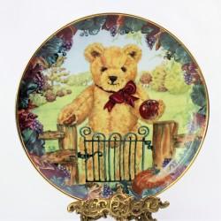 Porcelánový tanier Teddy´s First Harvest, Franklin Mint  21 cm + certifikát