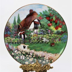 Porcelánový tanier Wishing Well Cottage, Franklin Mint 20,5 cm