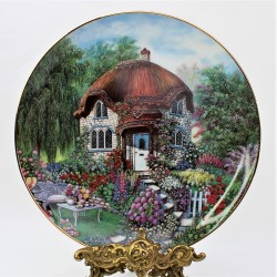 Porcelánový tanier Granny Smiths Cottage, Franklin Mint 20,5 cm