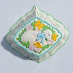 Veľká porcelánová forma Špargľa, Franklin Mint 21x16x9 cm