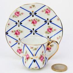 Miniatúra - porcelánový dvojset Rokoko, Mayfair, výška šálky 3,5 cm
