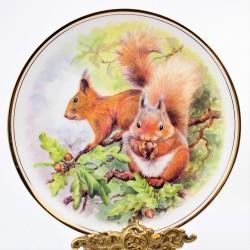 """predane Porcelánový tanier """" Veveričky"""""""