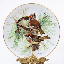 Porcelánový tanier Gartenrotschwanz, Alt Tirschenreuth 22 karát zlato, 19,5 cm
