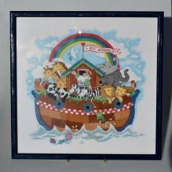 predané Gobelín - vyšívaný obraz Myšky a jazvec 33x24 cm