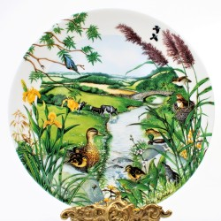 Porcelánový tanier The Mountain Stream + certifikát WEDGWOOD 21,5 cm + origin.balenie