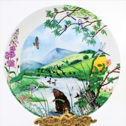 Porcelánový tanier The Rolling Hills and Grasslands + certifikát WEDGWOOD 21,5 cm