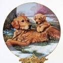 Porcelánový tanier Golden Retrievers, Hamilton Collection 21,5 cm