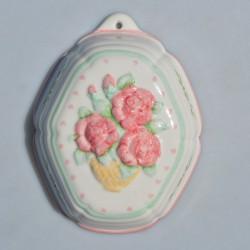 Veľká porcelánová forma Maliny, Franklin Mint 21x16x9 cm