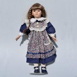 predane 33 cm Porcelánová bábika Barbara The Leonardo Collection + origin. balenie + stojan