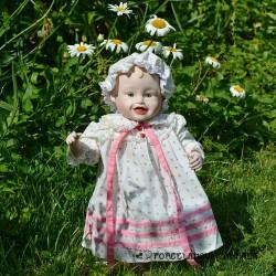 predané 41 cm Porcelánová bábika Ashton Drake Školáčka +ruksak + vysvedčenie