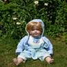 54 cm Porcelánová sediaca bábika Chlapec