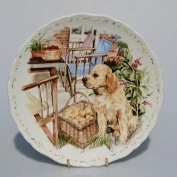 velke foto Porcelánový tanier Companionship