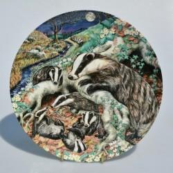 PREDANE Porcelánový tanier Badger + certifikát, WEDGWOOD 23 cm
