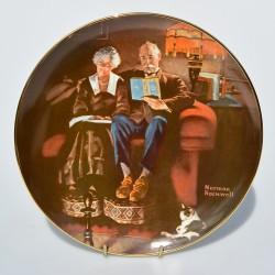 Porcelánový tanier The Music Maker, Knowles 21,5 cm + certifikát, orig.obal
