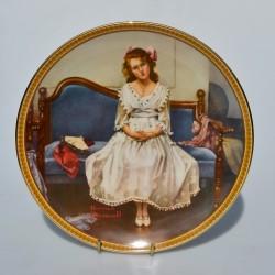 Porcelánový tanier Working in the Kitchen, Knowles 21,5 cm + certifikát, orig.obal