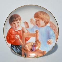 Porcelánový tanier My Angel, Artaffects, 23 karát zlato, 20,8 cm + certifikát,orig. obal