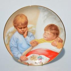 Porcelánový tanier Heavenly Helper, Artaffects, 23 karát zlato, 20,8 cm + certifikát,orig. obal