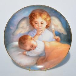 Porcelánový tanier Angel Cake, Artaffects, 23 karát zlato, 20,8 cm + certifikát,orig. obal