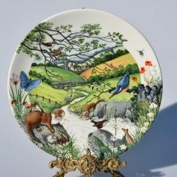 Porcelánový tanier The Babbling Brook + certifikát WEDGWOOD 21,5 cm + origin.balenie