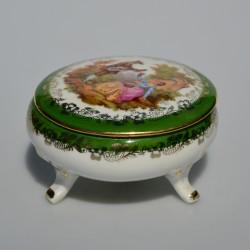 predane osobne x Porcelánová šperkovnička Limoges B19, rozmer 8,5x4 cm