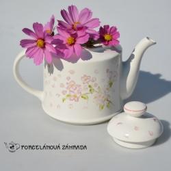 Čajník Kvety čerešne, Royal Victoria, objem 1,4 l, ošetrený oťuk v otvore na nalievanie