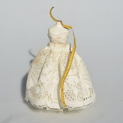 1:12 Keramická figurína s metrom do domčeka pre bábiky 11x4 cm